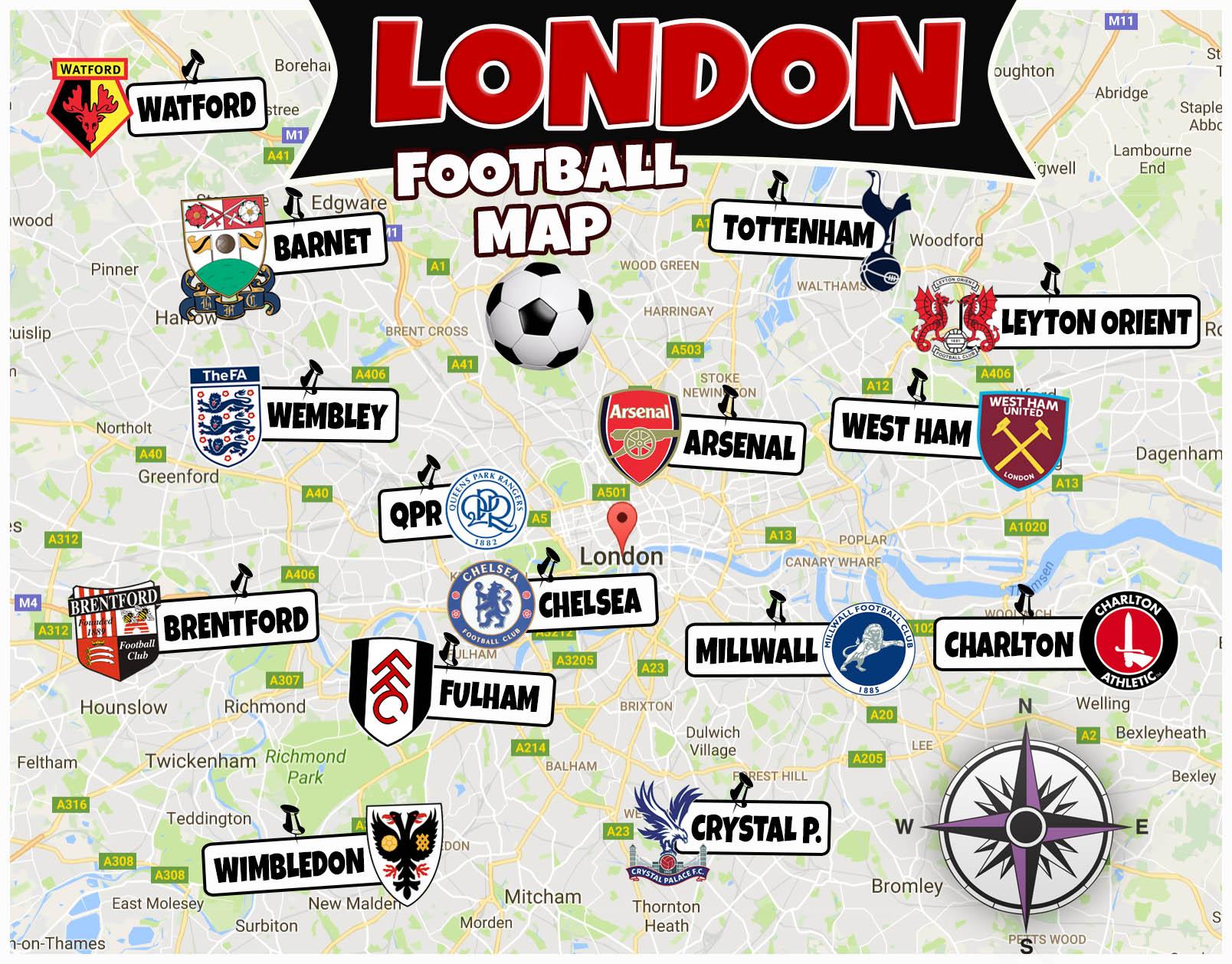 fotbolls karta London