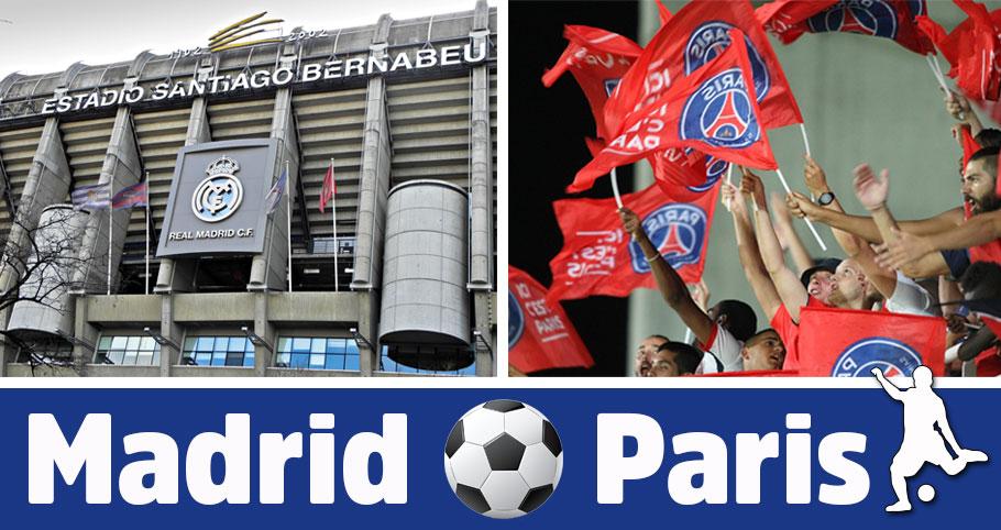 fotbollsresa till Madrid och Paris